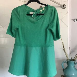 Anthropologie green top size S
